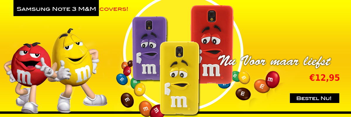 Samsung Note 3 M&M hoesjes