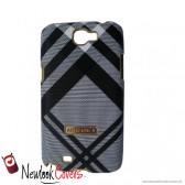Geruite design case grijs - Note 2